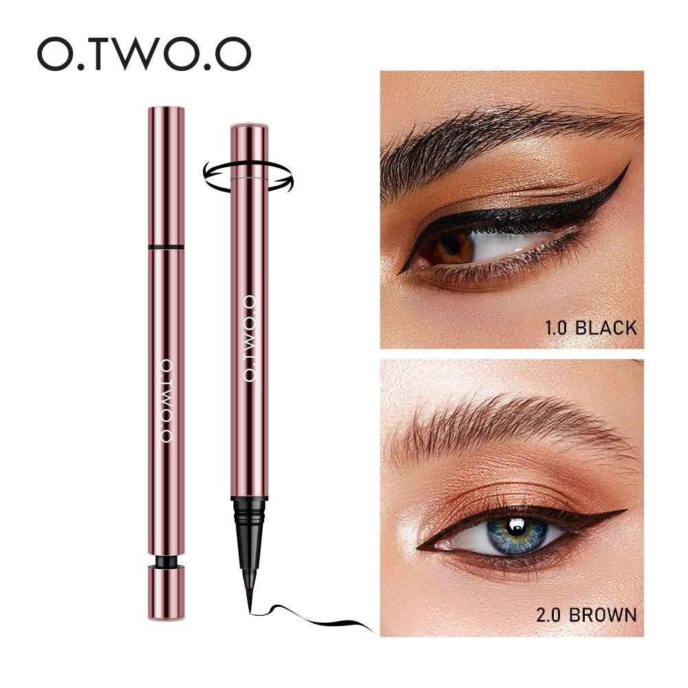 O. tw o.o líquido delineador maquiagem super à prova dfeuágua para mulher delineador feutre preto marrom longa duração lápis cosméticos