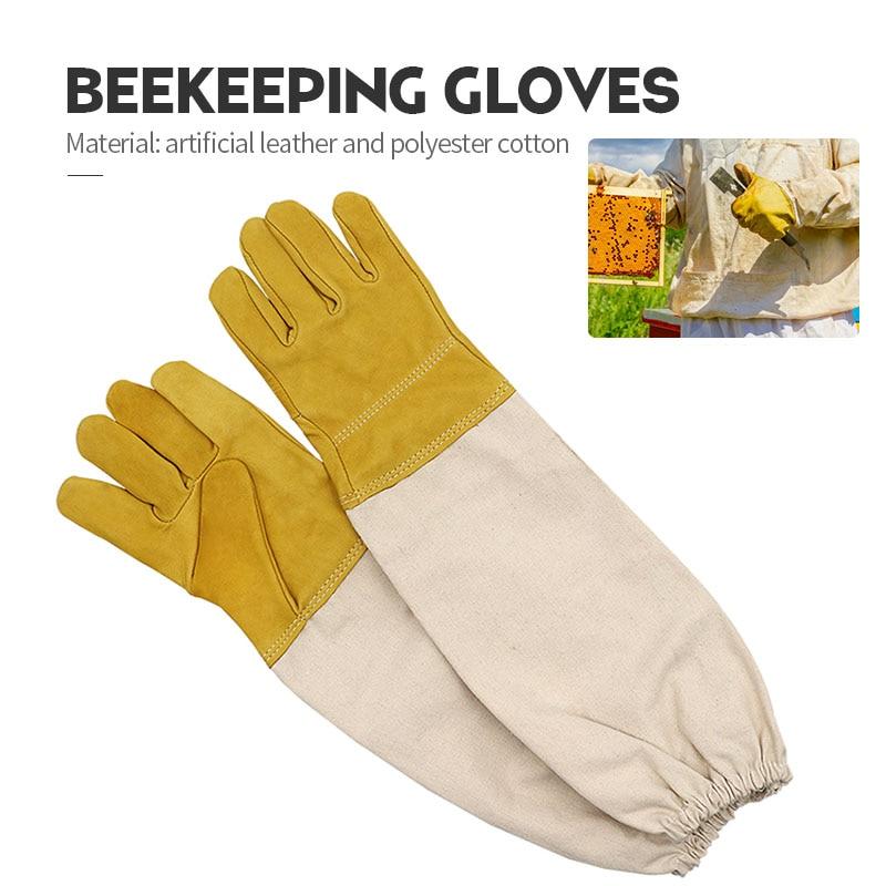 Protective Beekeeping Gloves Sheepskin Anti bee Gloves Beekeeping Professional for Apiculture Beekeeping  beehive недорого