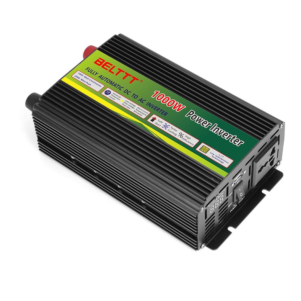 Inversor de corriente de CC a CA 12V 24V 110V 220V convertidor monofásico 12dc a 220ac con pantalla lcd