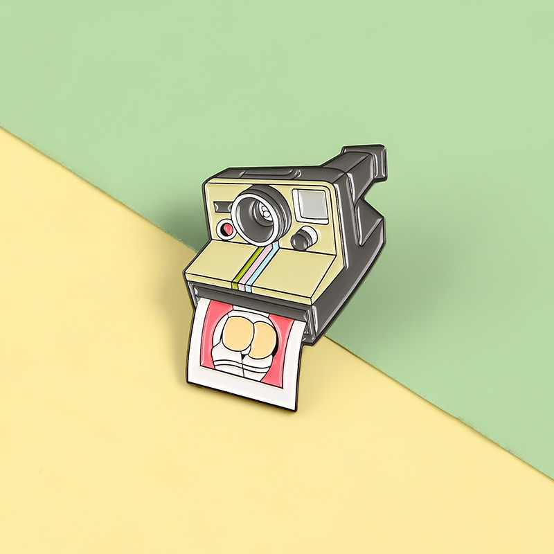 Broche de esmalte para cámara Vintage, broche de foto personalizado, solapa creativa, ropa, mochila, pin, regalo de joyería