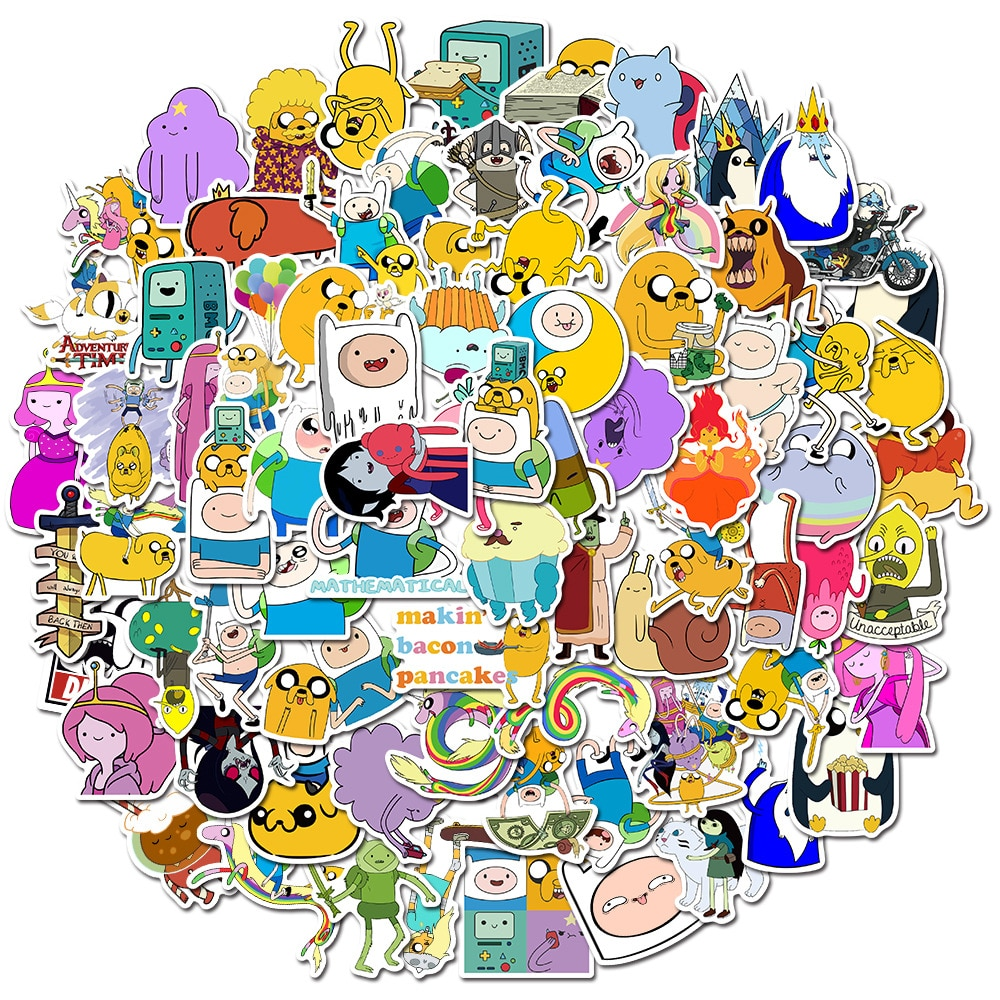 10/30/50PCS Adventure Time Cartoon Animation Luggage Scooter Laptop Refrigerator Graffiti Stickers Decorative Toys Wholesale фото