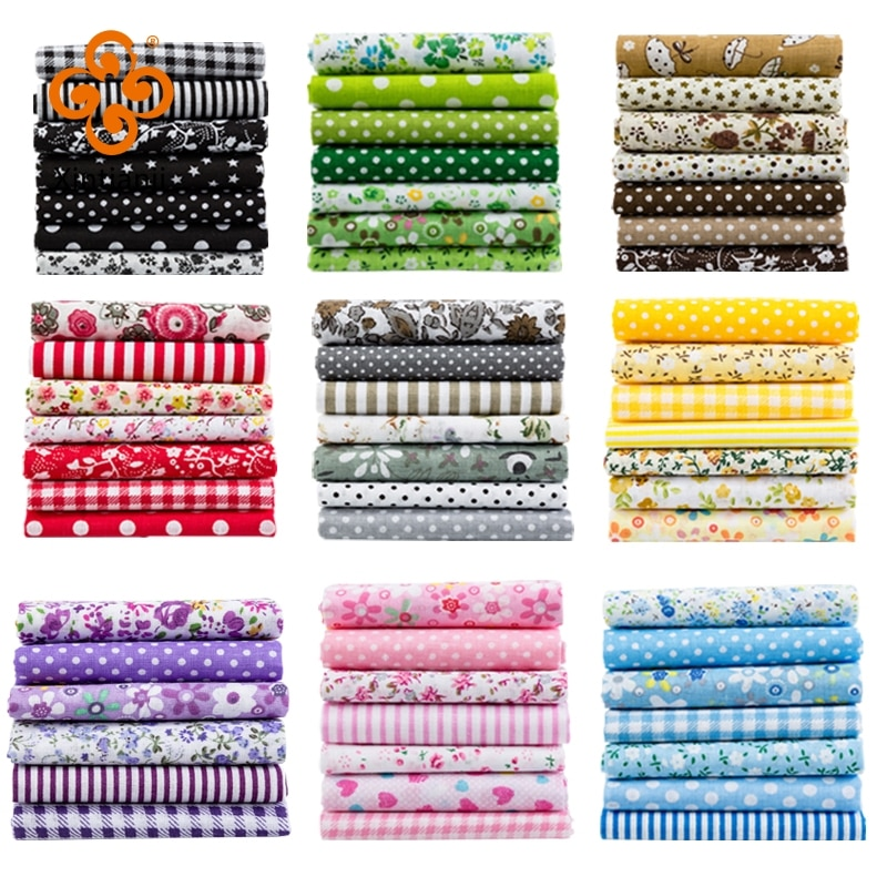 24*25Cm Or 10*10Cm Cotton Fabric Printed Cloth Sewing Quilting Fabrics For Patchwork Needlework DIY