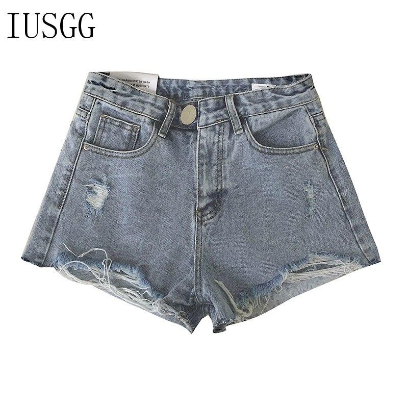 Pantalones cortos vaqueros de talla grande 5XL de verano de gran oferta para mujer, cintura alta, con forro de piel, aberturas para las piernas, pantalones cortos sexis de talla grande, pantalones cortos holgados con agujeros