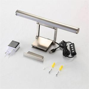 Black Chrome Nickel Dimmable Bathroom Mirror Light 3 Color Modes LED Vanity Lamp Clamp Screw on Cupboard Wall Installation