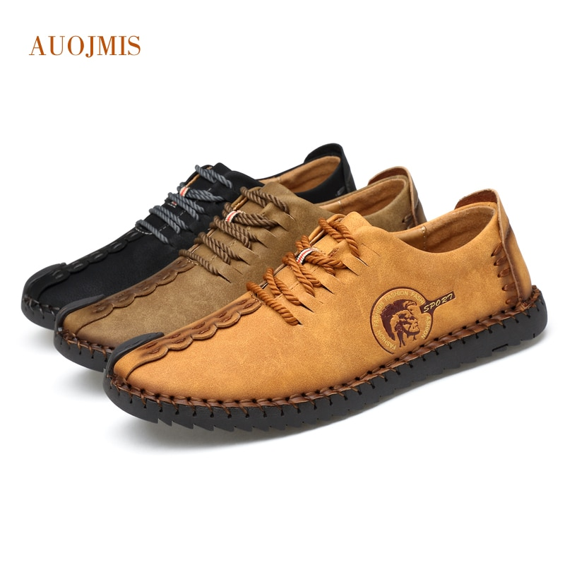 Nuevos zapatos deportivos informales de corte bajo de cuero de dos capas cómodos y transpirables zapatos básicos salvajes para hombres jóvenes tendencia