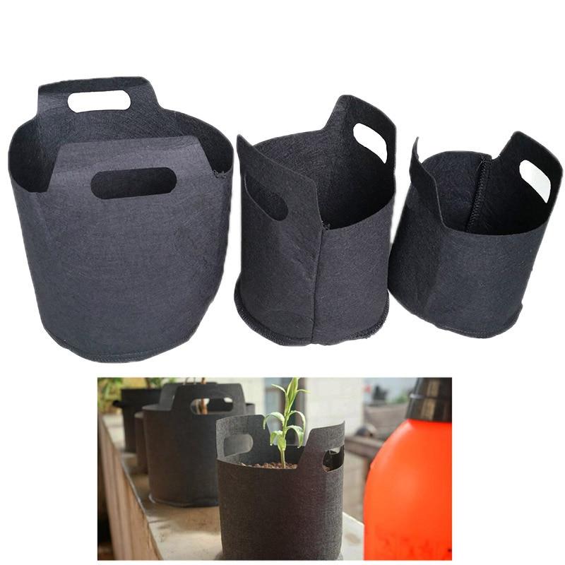 Bolsas de cultivo de tejido de 1/2/3 galones, macetas para jardín, plantas, vegetales, bolsa macetero para flores DIY, herramienta de jardín