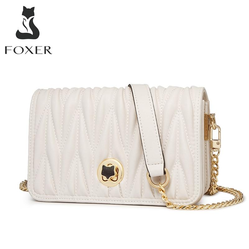 FOXER-حقيبة كتف بغطاء هوائي للنساء ، حقيبة كتف بتصميم غير منتظم للبنات ، هدية عيد الحب