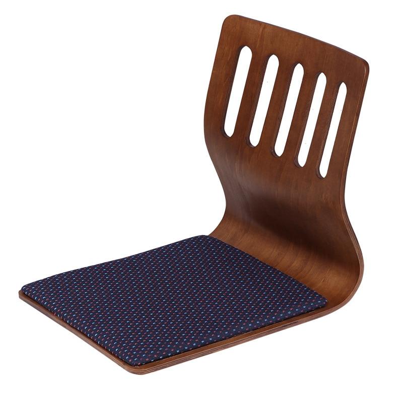 Кресло Legless, кофейная отделка, японская мебель для гостиной, напольный татами, дизайнерский стул для Kotatsu/смотреть телевизор