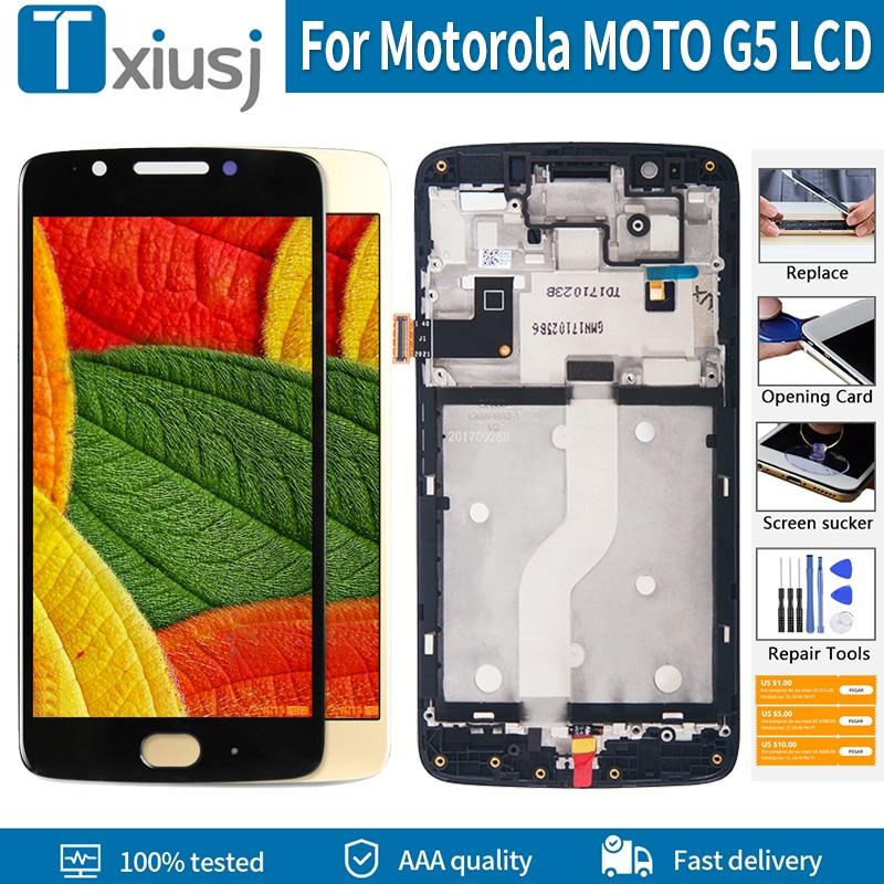 "Pantalla Original de 5,0 ""para Motorola MOTO G5 LCD XT1672 XT1670 XT1671 XT1675 XT1676, montaje de digitalizador LCD con pantalla táctil"