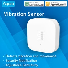 Aqara Sensore di Vibrazione Zigbee funziona con Xiaomi Mi Casa App compatibile di Apple HomeKit Notifica Remota Sensibilità Regolabile