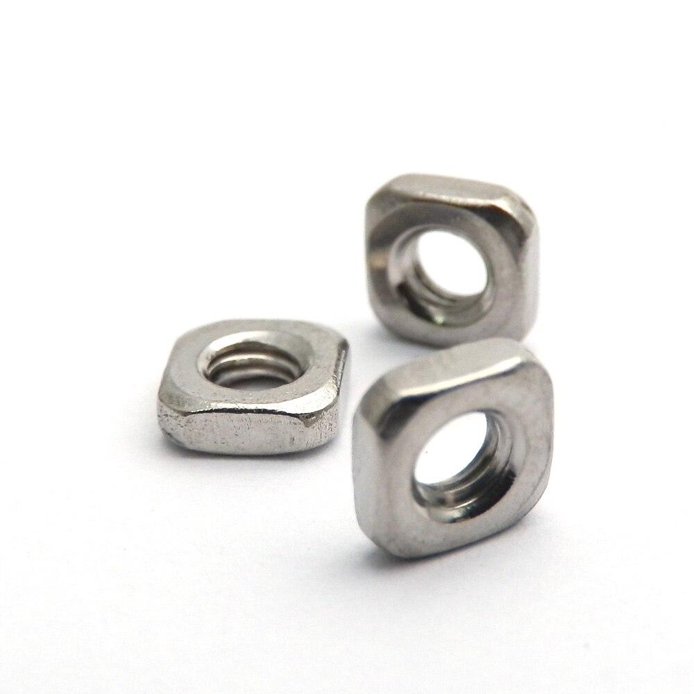 50 шт./лот DIN 562 квадратные тонкие гайки M3 M4 M5 M6 M8 A2 квадратные тонкие гайки из нержавеющей стали