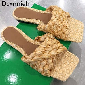 New cross braided Flat slippers women nude pink Fold women brand shoes slip on mules casual flat Party shoes woman  Size 41
