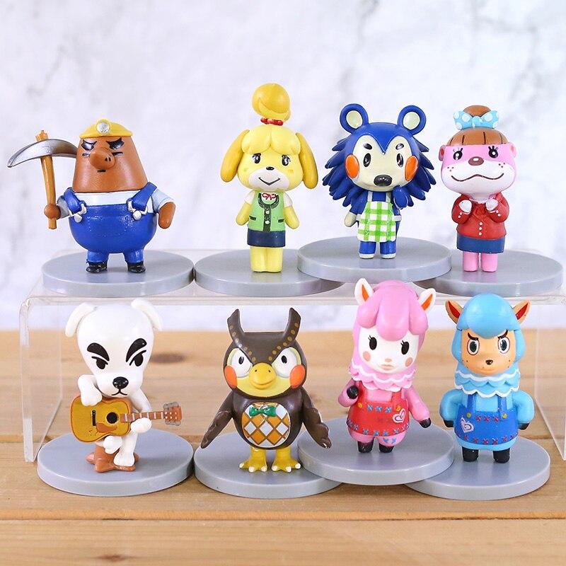 Animal Crossing New Horizons K.K. Slider Isabelle Mabel Blathers Reese Cyrus Resetti Mini Spielzeug Figuren Puppen 8 teile/satz