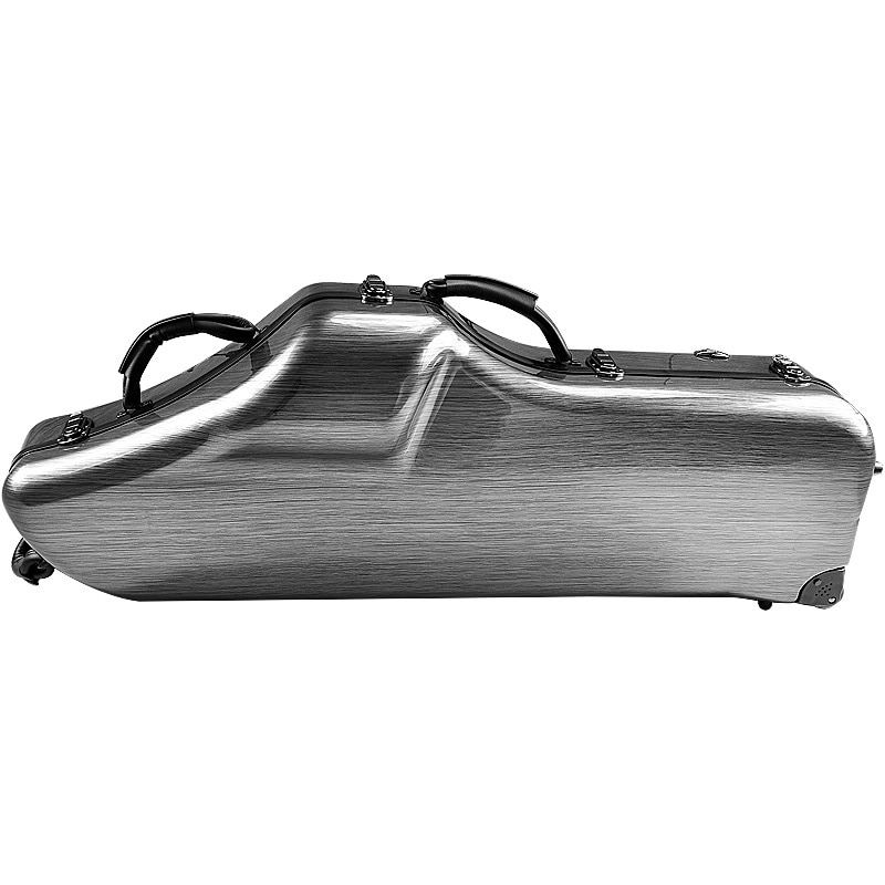 bE Baritone Saxophone Case Portable Trolley Pulley Baritone Saxophone Box Cover Travel Baritone Saxophone Bag Wheels bE SAX Case