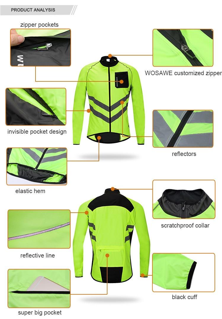 motorcycle Cycling Rain Jacket High Visibility MultiFunction Jersey MTB Bike Bicycle Windproof Quick Dry Rain Coat Windbreaker enlarge