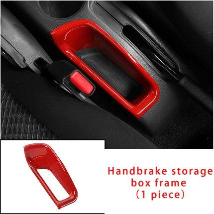 For Suzuki JIMNY 2007-2017 red Handbrake storage box frame  molding trim