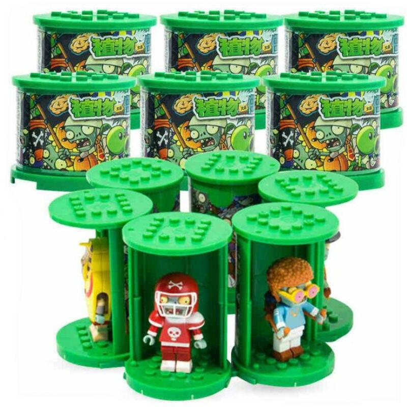 Figuras de acción de Plants vs, figuras de zombis 2020 genuinas, bloques de construcción, juguete para niños LegoED, Batalla de juegos de rol