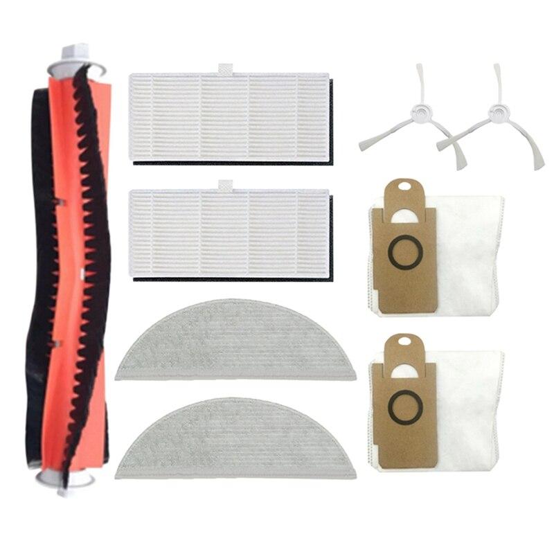 9 قطعة استبدال أجزاء ل شاومي Lydsto R1 الرئيسية الجانب فرشاة الغبار حقيبة تصفية ممسحة القماش مكنسة كهربائية الملحقات