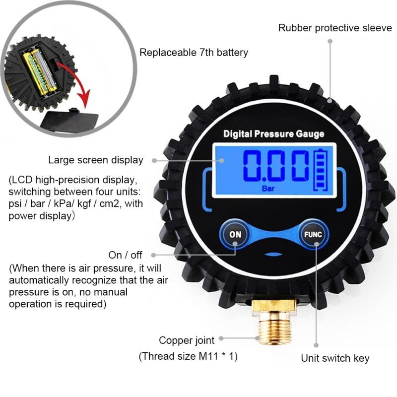 "LCD Digital Tire Pressure Gauge Car Auto Motorcycle Tyre Air PSI Meter 1/8"" NPT ester For Car Truck Motorcycle Hot Sale"