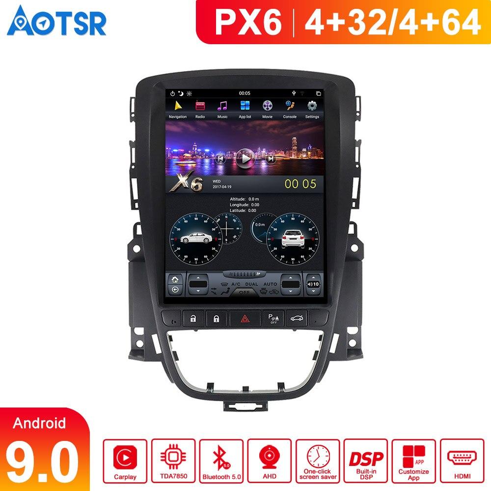 PX6 אנדרואיד 9 4GB DSP טסלה סגנון רכב GPS ניווט עבור אופל אסטרה J 2010 + מולטימדיה נגן אוטומטי ראש יחידת רדיו קלטת מקליט