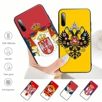 russian national emblem black silicone phone case cover for samsung galaxy s9 s10 s20 s21 s30 plus ultra s10e s7 s8
