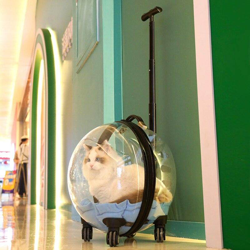 Bolsa para gato cubierta de carrito de bolsa de transporte de salida...