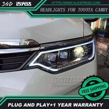 Araba styling LED HID Rio LED farlar kafa lambası Toyota Camry farlar 2015 2016 bi-xenon mercek far far