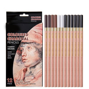 Sketch Drawing Pencils 12 Piece Professional Pencils Set Charcoal Pencils Shading Pencils for Adults Kid Artists DQ-Drop