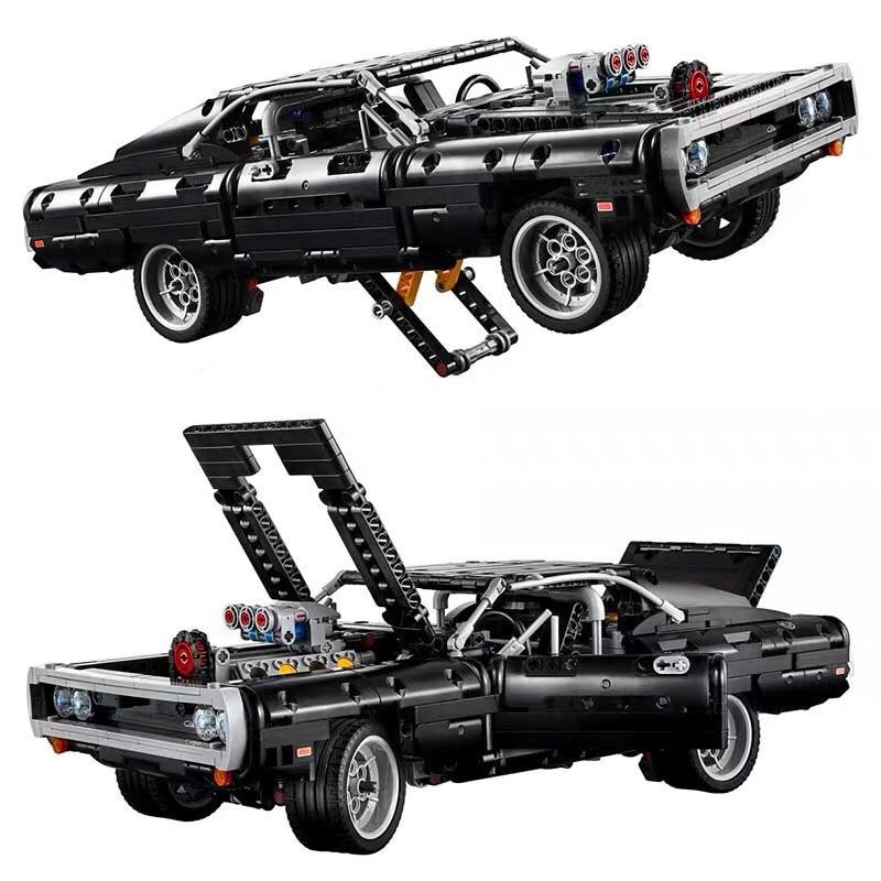 2020 nueva serie de coches técnica Supercar Dom S Dodged cargador 42111 modelo LegoINGlys bloques de construcción ladrillos juguete