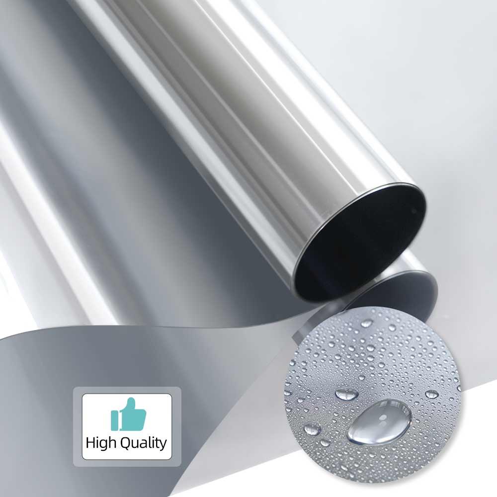 Louyun 100/200cm isolamento térmico filme solar de uma maneira espelho janela filme anti-ultravioleta auto-adesivo proteção de privacidade filme