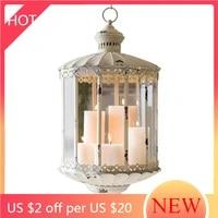 vintage metal european candle holder luxury hanging simple creative candlestick centerpiece kandelaar home decoration ah50ch