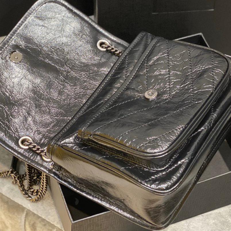 حقيبة يد فاخرة للنساء جلد طبيعي Niki حقائب للنساء حقائب الكتف Crossbody الساخن مصمم الخامس خط حقيبة العلامة التجارية حقائب