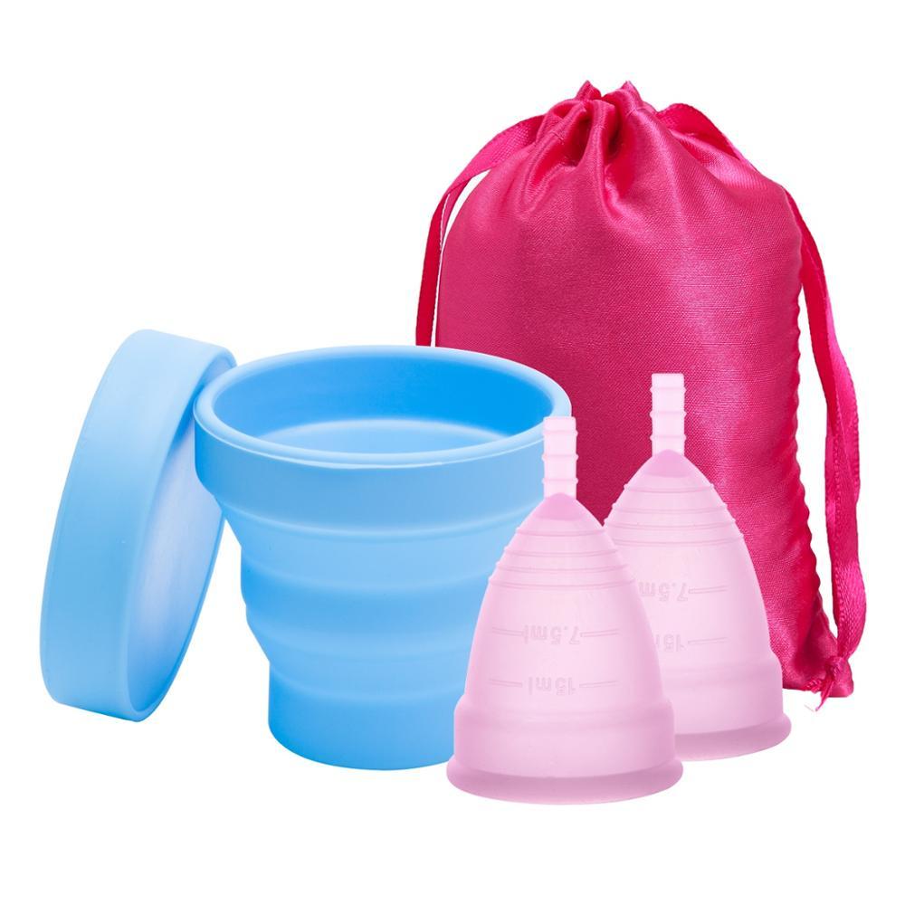 Женственная гигиена менструальные чашки Медицинские силиконовые стерилизатор