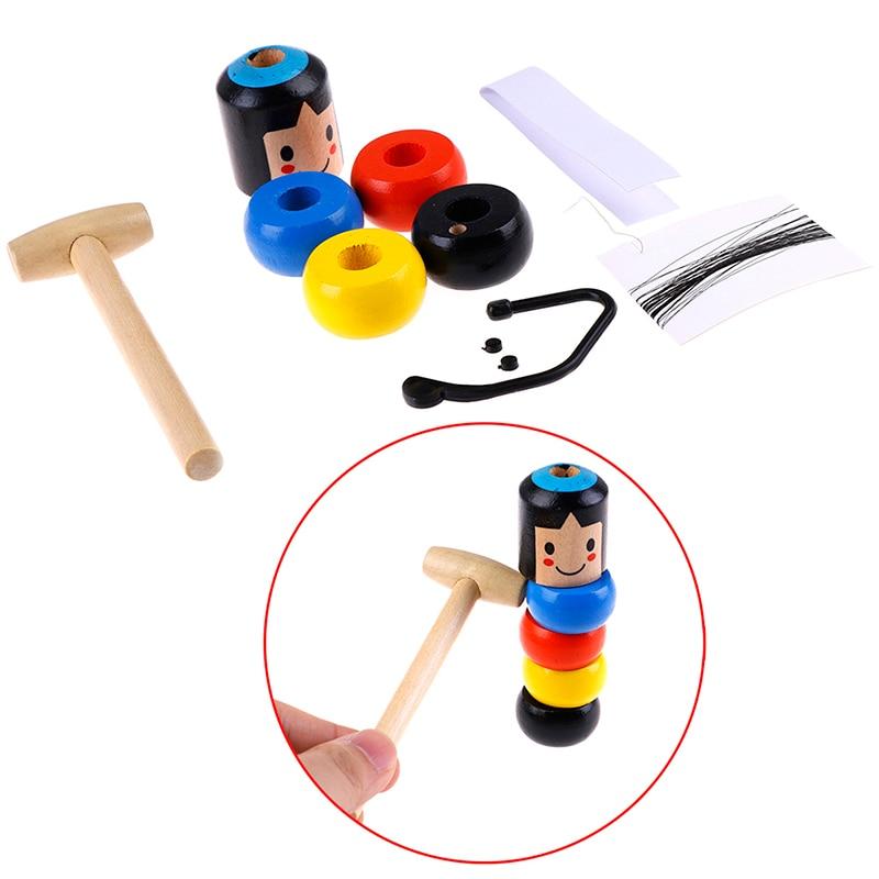 Juguete de madera irrompible para hombre inmortal Daruma, trucos de magia, accesorios mágicos para escenario, accesorio de juguete divertido