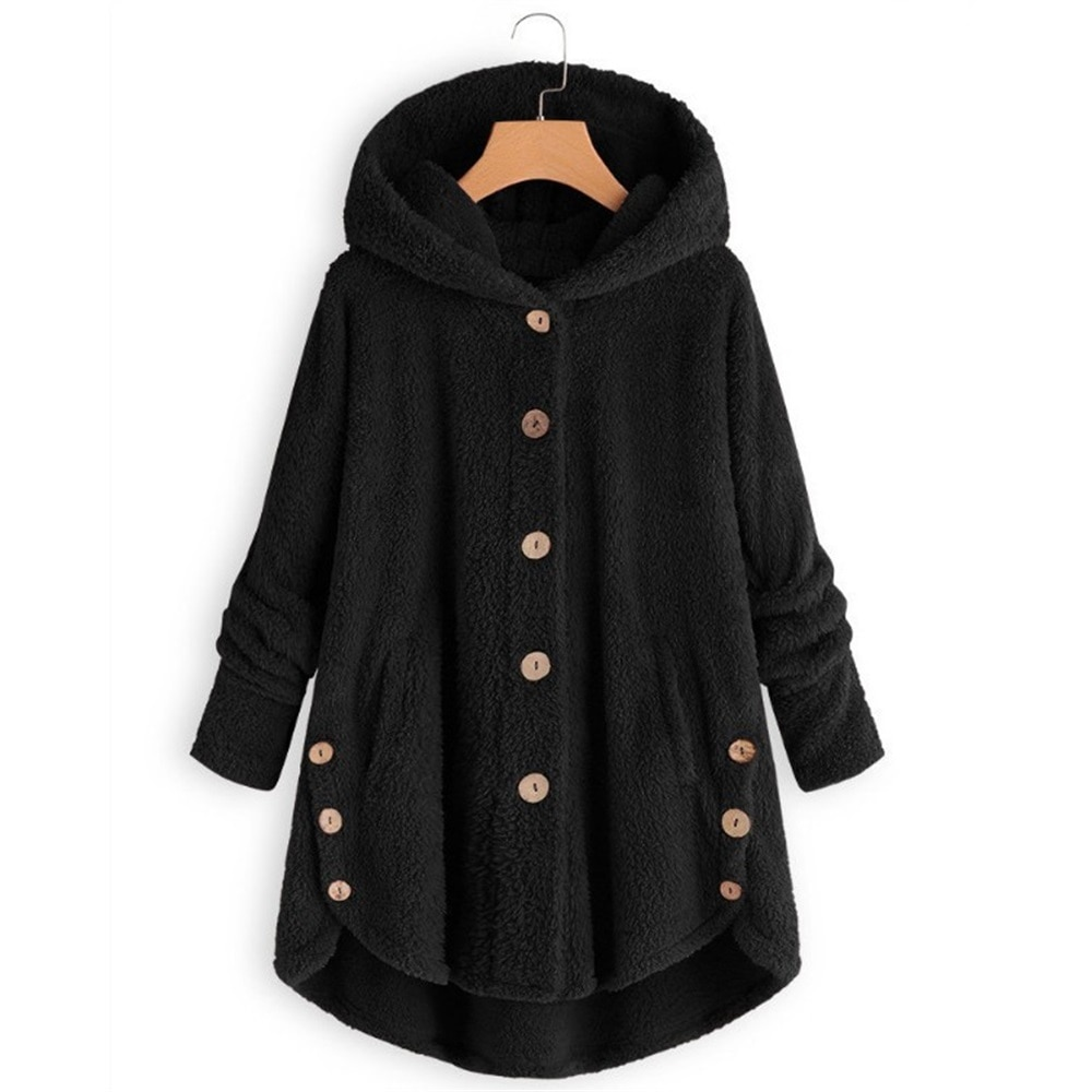 Explosion Models Women Jacket Large 5XL Teddy Plush Irregular Warm Jacket Sherpa Fleece Autumn Winter Single-Breasted Clothing