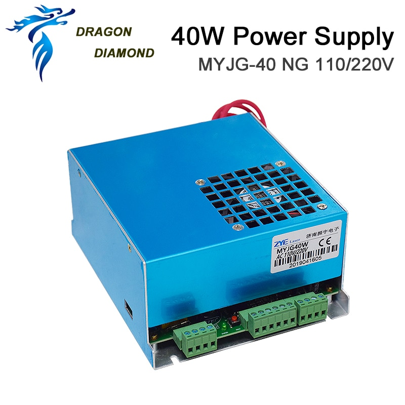 DRAGON DIAMOND 40W CO2 Laser Power Supply 110V 220V For 40W CO2 Laser Tube For CO2 Laser Engraving Cutting Machine