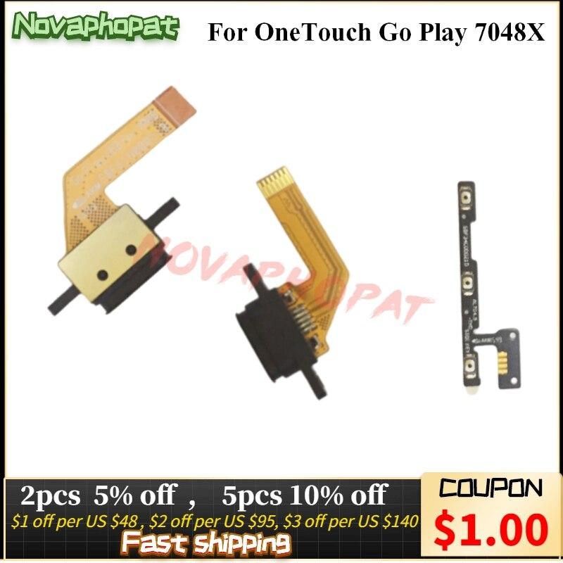 Novaphomat-puerto de carga para Alcatel OneTouch Go Play 7048X, base de carga...