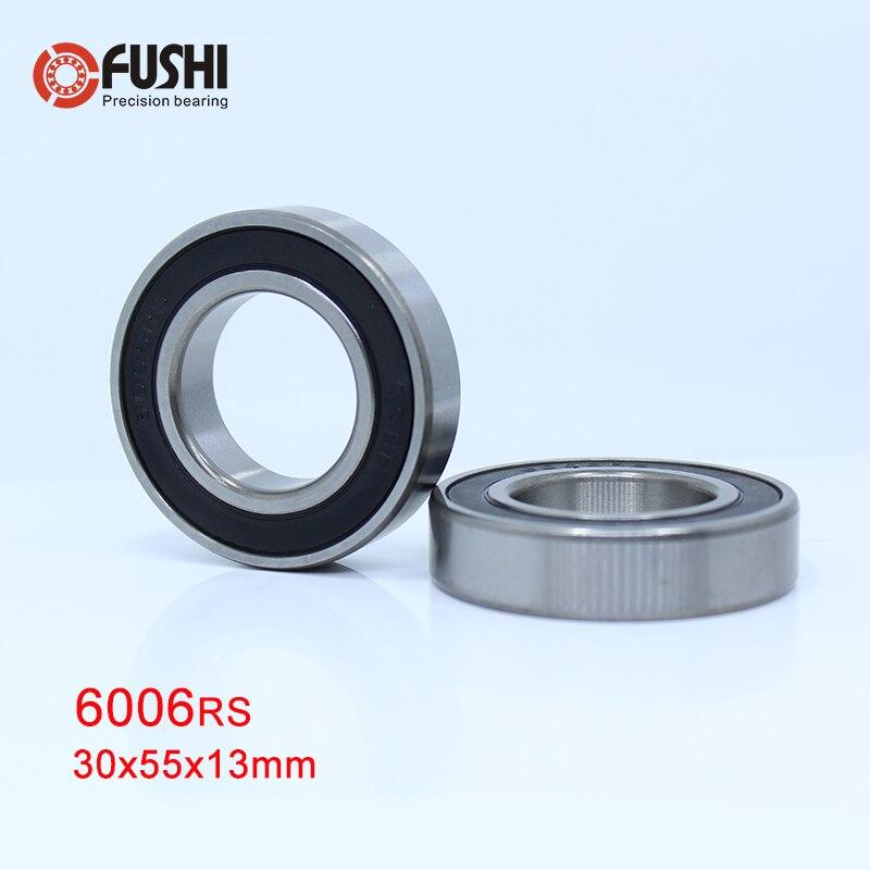 6006RS Bearing ABEC-3 2PCS 30*55*13 mm Deep Groove 6006-2RS Ball Bearings 6006RZ 180106 RZ RS 6006 2RS EMQ Quality