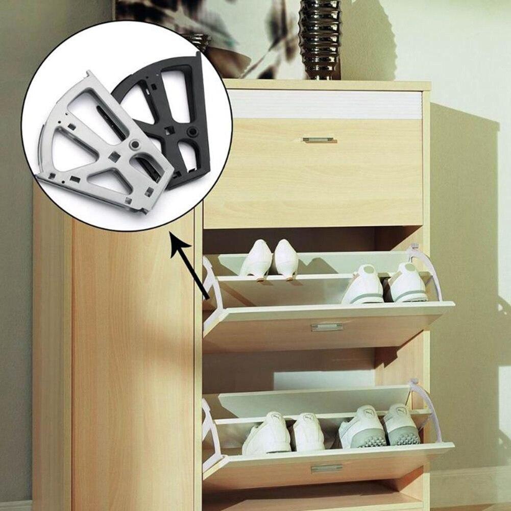 2 uds. Accesorios de Hardware de bisagra del estante del zapato del estante del bastidor del tirón para la tienda del hogar del Gabinete TSH