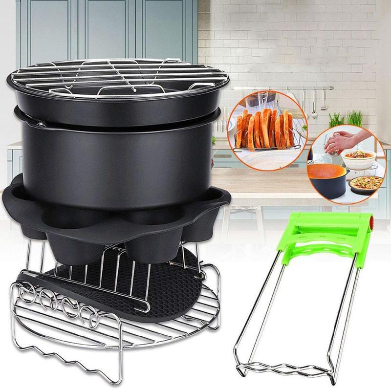 7,8,9 inch 8-piece set (A)$ High Quality Air Fryer Accessories Suitable For 5.2QT-5.8QT