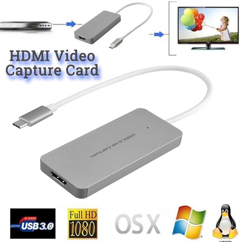 YUY2 MJPEG نوع C فيديو لعبة ببطاقات ورقية لايف فيديو بطاقة كابتور USB 3.0 C Type-C ألعاب كاميرا مسجل فيديو لماك ps4 فوز لينكس pc
