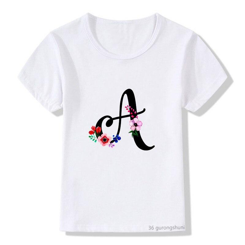 Novedad de verano estilo gran oferta niños camiseta lindo flor imprimir camiseta...