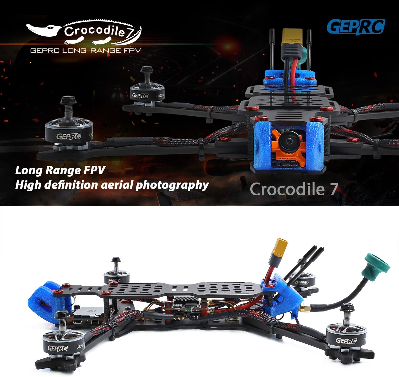 Gprc crocodilo GEP-LC7-PRO/GEP-LC7-1080 315mm 7 Polegada rc fpv corrida zangão betaflight f4 50a runcam rápida rc fpv quadcopter