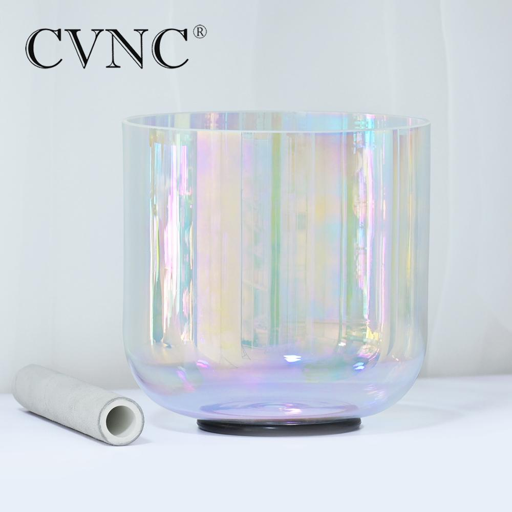 CVNC 7 Inch Cosmic Light Chakra Clear Quartz Crystal Singing Bowl 432Hz 4 Octave for Anxiety Hypertension Stress Sound Healing enlarge