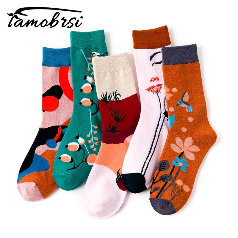 Cartoon Nylon zabawa śliczne Kawaii krótkie panie kwiat Streetwear kobiety skarpetki ciepłe śmieszne białe krótkie zimowe bawełniane skarpetki Happy Ankle