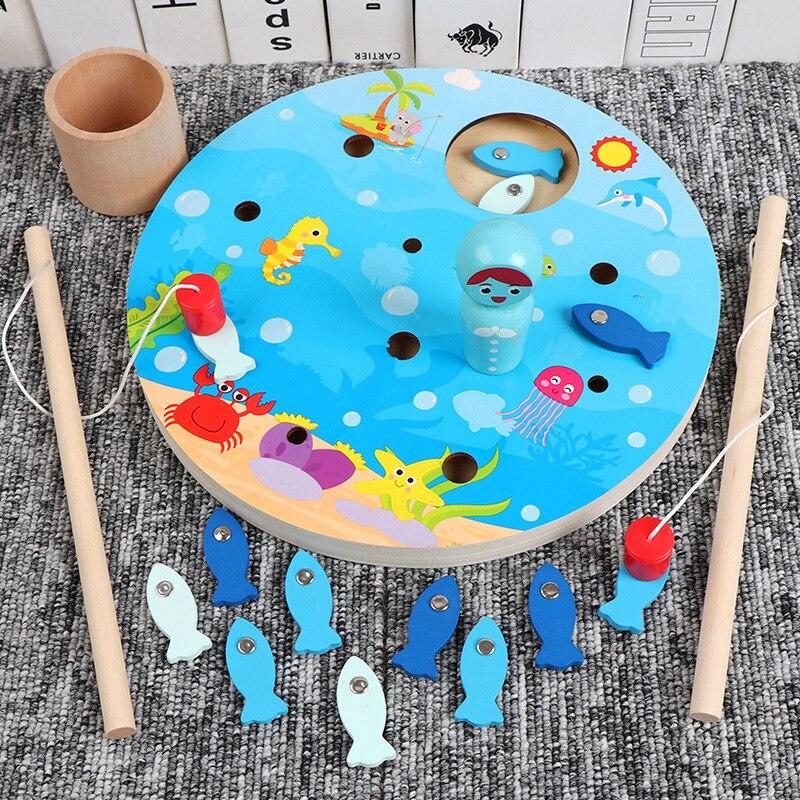 Фото - Магнитные игрушки для рыбалки, детские развивающие деревянные игрушки, удочка, набор для раннего обучения младенцу, товары для детского сад... развивающие игрушки knopa дидактический набор мой сад
