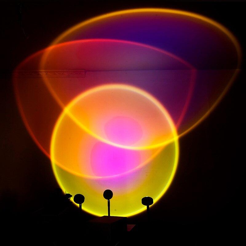 Новинка Радуга Свет Солнце Никогда Наборы Фон Стена Украшение Красочный Свет Сеть Знаменитости Атмосфера Солнце Проекция Свет