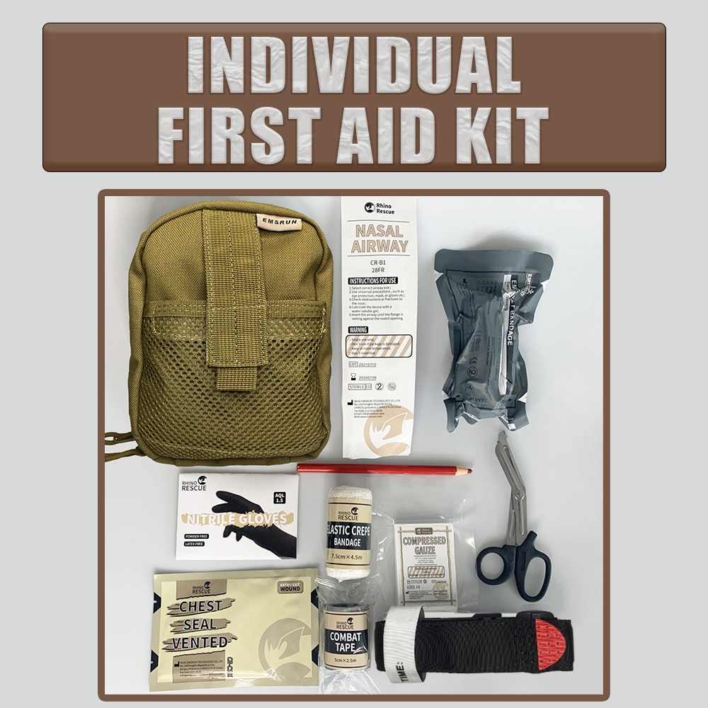 Survival Pouch Outdoor Medical ifak MINI Size IFAK Traini Bag/Package Tactical First Aid Bag Medical Kit Bag Molle EMT Emergency