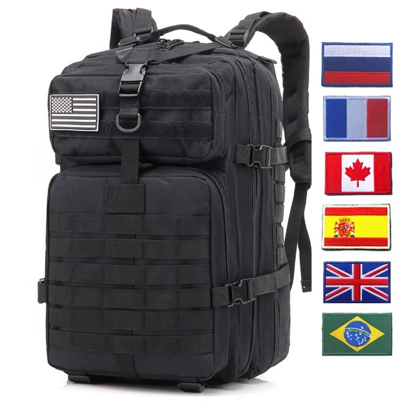 Tactical Backpack 50L  Military Assault Infantry Rucksack Sports Camping Big Capacity Hiking Bag Backpacks