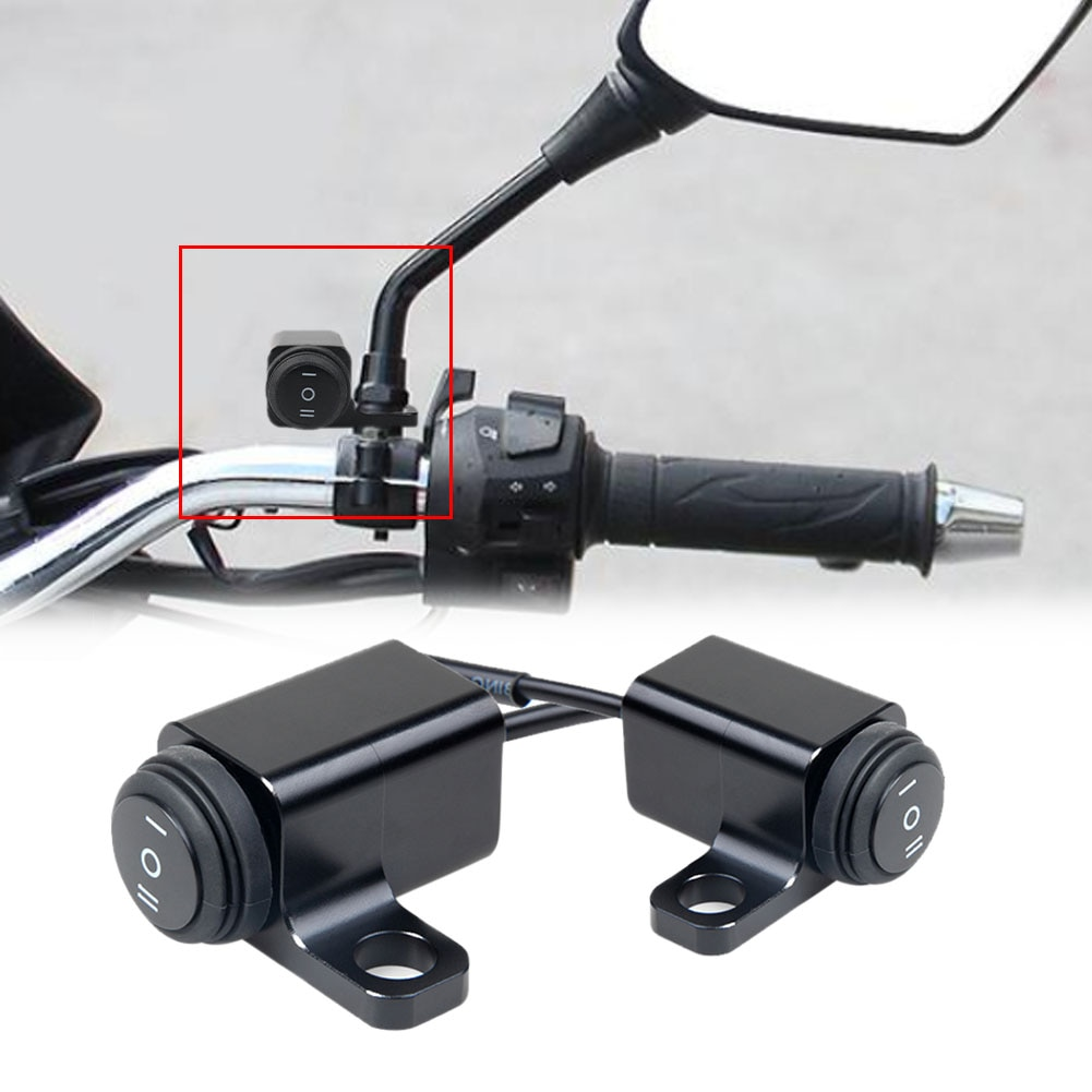 1pc motorcycle accessories 1Pc Motorcycle Switches Connector Handlebar Switches ON-OFF-ON Button Connector Push Button Switch Motorbike Accessories